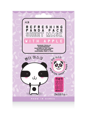 Refreshing panda face sheet mask