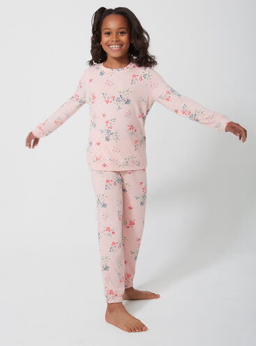 Girls meadow floral print twosie