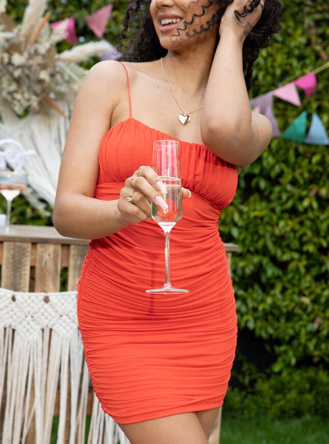 Aisha strap ruched mini dress