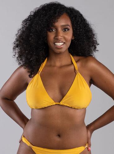 Goa ruched triangle bikini top