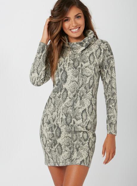 Snake jacquard dress