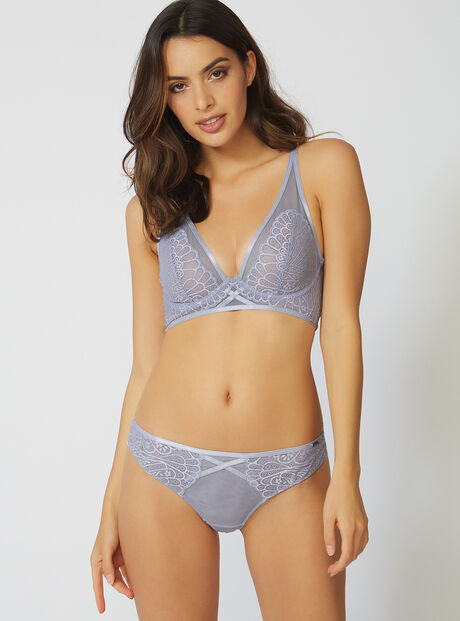 Abstract lace briefs