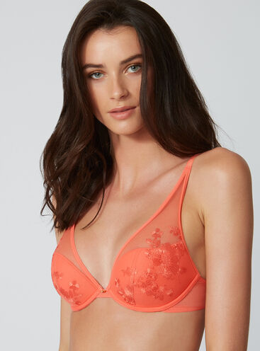 Tillie embroidered plunge bra