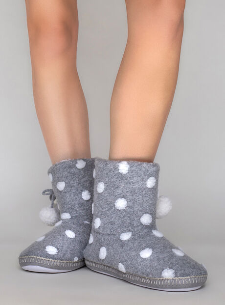 Spot boot slippers