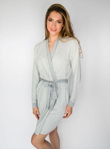Lurex stripe robe