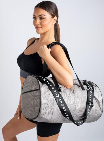 Boux Sport silver high shine duffle bag
