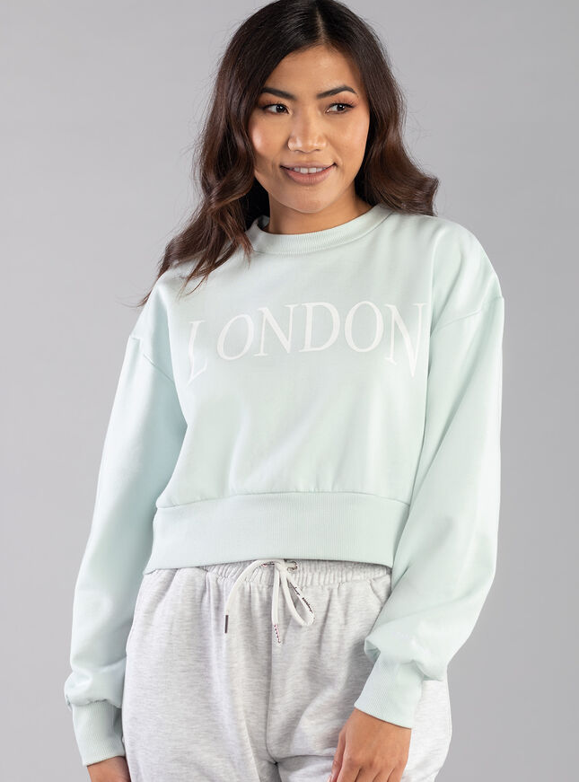 London slogan sweatshirt
