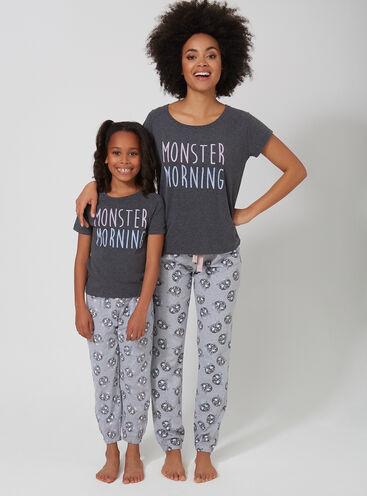 Monster morning family pyjama set