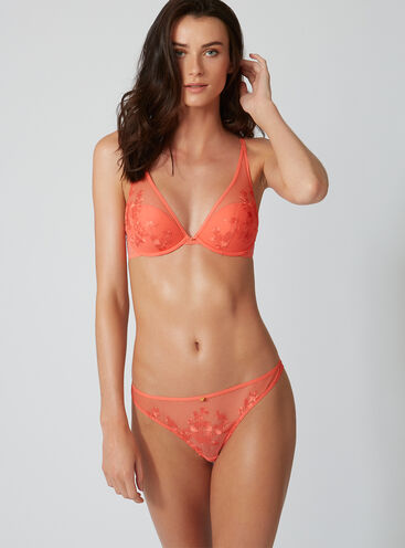 Tillie embroidered thong