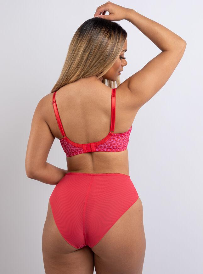 Kristie animal balconette lingerie set
