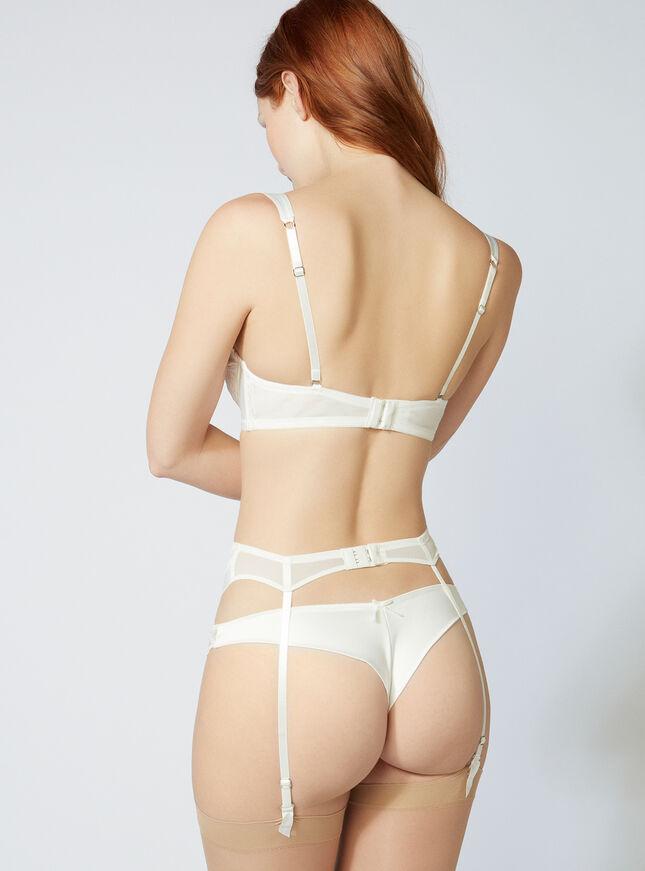 Angelina satin suspender belt
