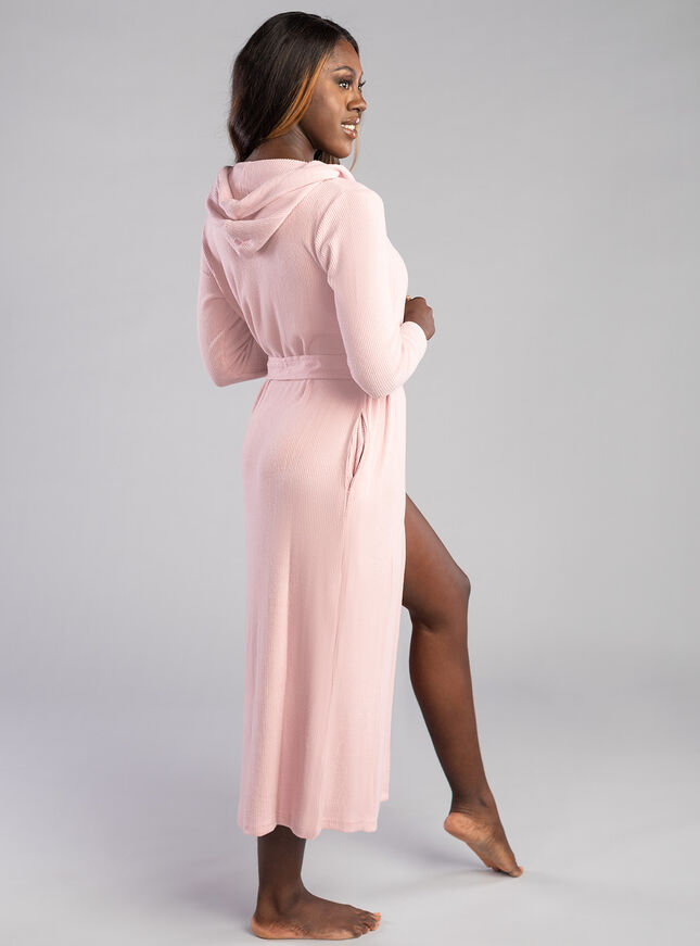 Lillie ribbed lounge robe