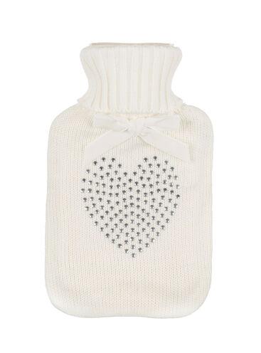 Heart diamante hot water bottle 1L