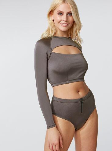 Activewear high-waisted bikini briefs