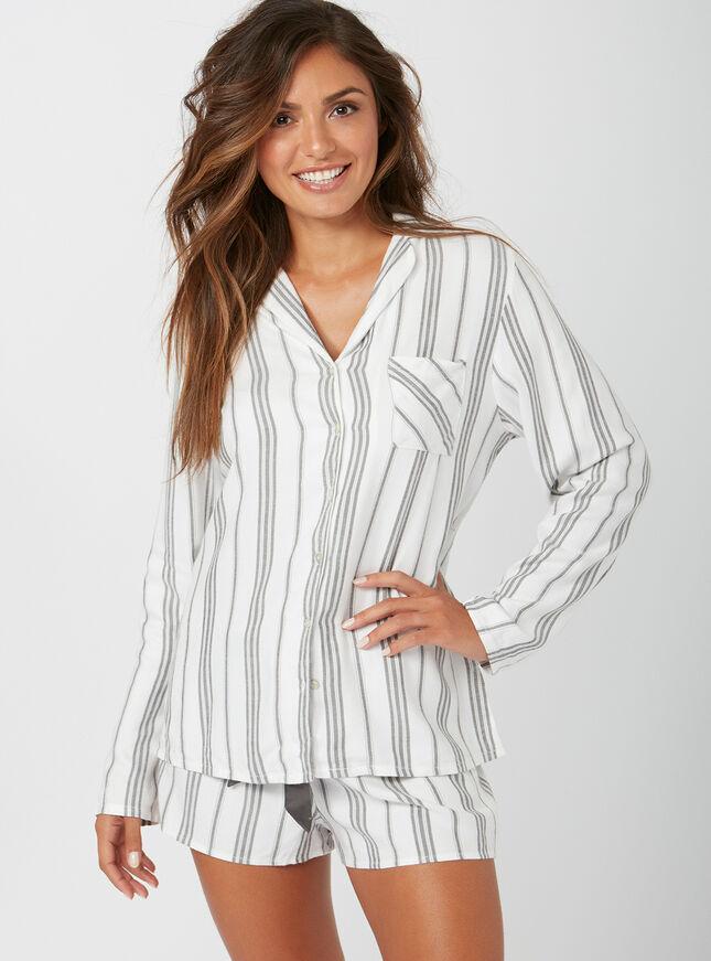Mono stripe pyjama set