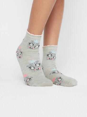 Girls 2 pack novelty socks