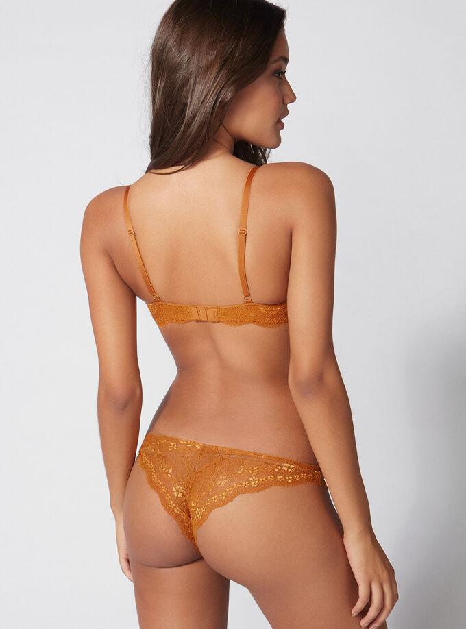 b9a2d71fba Chloe lace plunge bra. Model wears size 32C
