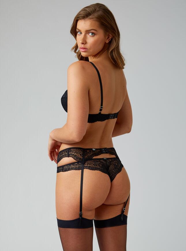 Chloe lace suspender belt