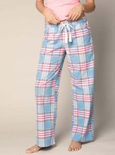 Chambrey check pyjama pants
