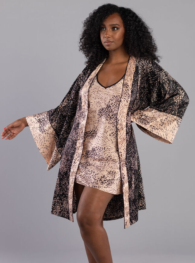 Abstract animal dressing gown