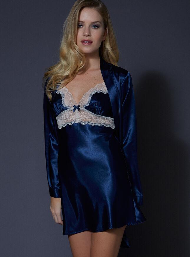 Cheryl satin robe set