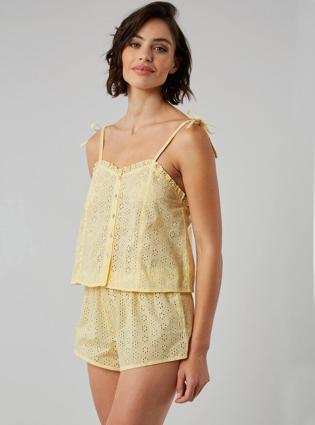 Cotton broderie cami set
