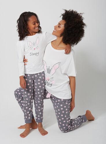 Bunny family pyjama set