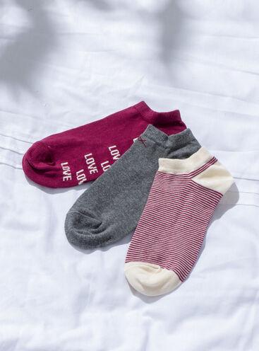 3 Pack love trainer socks