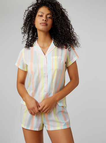 Sorbet stripe pyjama set