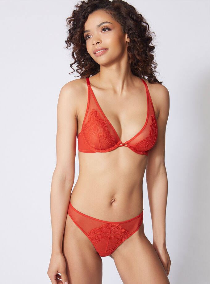104f262bb7d36 Zoe high apex non-padded bra. Model wears size 32C. Zoe high apex  non-padded bra