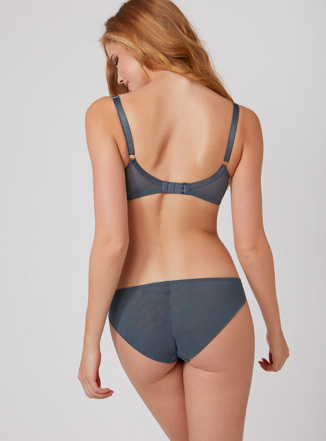 Pansy embroidered balconette bra