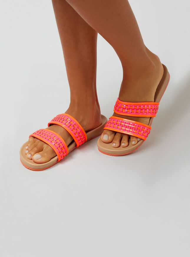 Neon weave sliders
