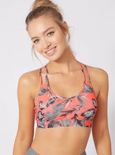 Activewear palm strappy crop top