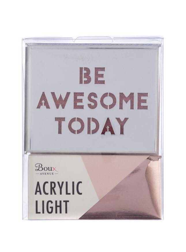 Mini slogan light box