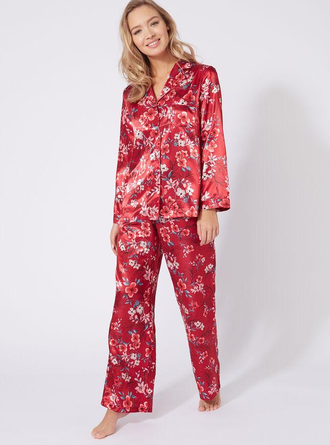 Oriental bloom pyjama pants