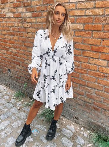 Larissa floral smock dress