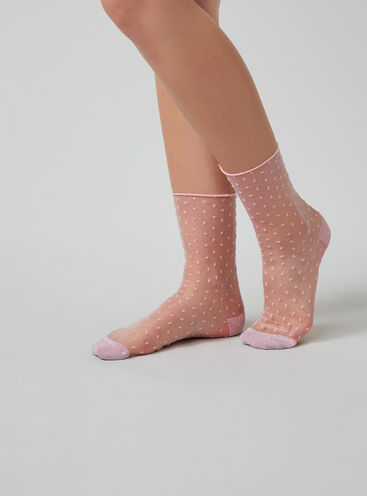 Spot chiffon socks