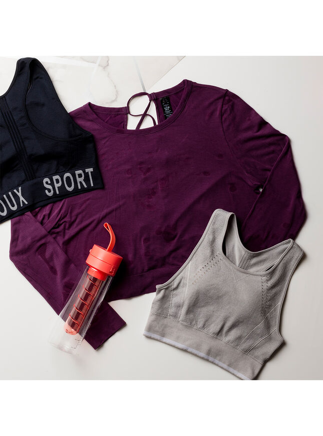 Boux Sport lace up back top