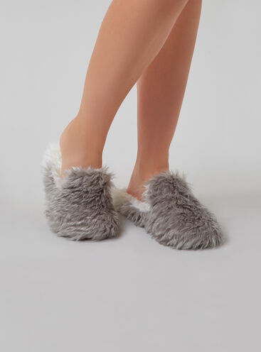 Fluffy loafer slippers