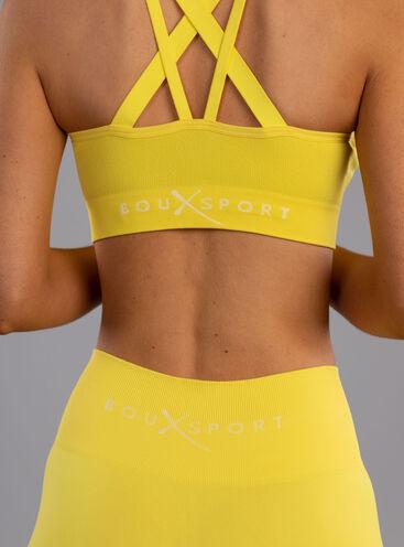 Boux Sport textured panel crop top