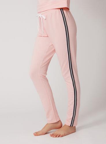 Retro sport stripe pants