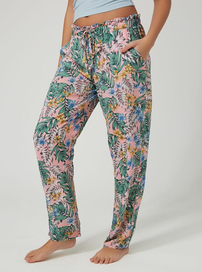 Fern print pyjama pants