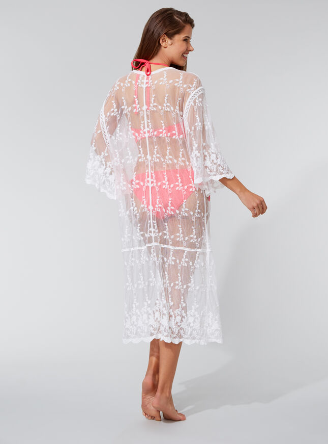 Embroidered lace beach cover up