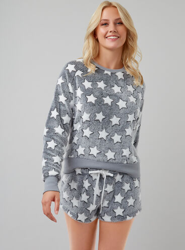 Star fleece lounge set