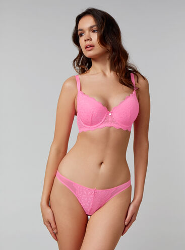 Lauren padded balconette lingerie set
