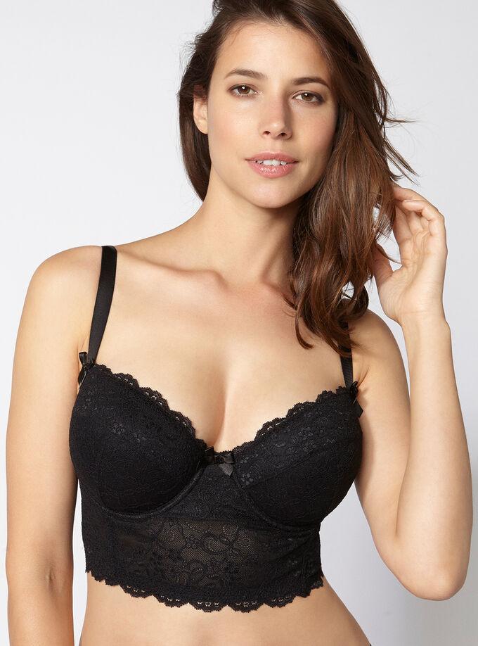 Chloe lace longline bra. Model wears size 32E a2190499c