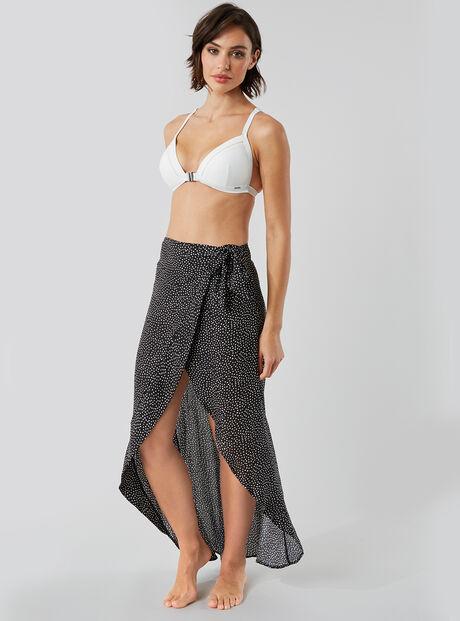 Spot wrap beach skirt