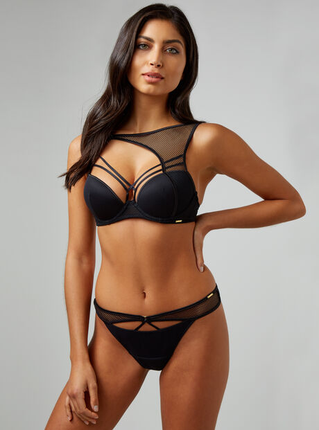 Strappy geo thong
