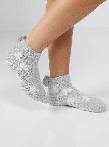 Cosy night sky print trainer socks