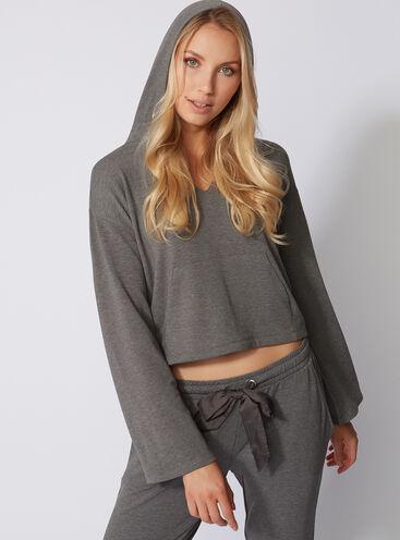 Leisurewear cropped hoody